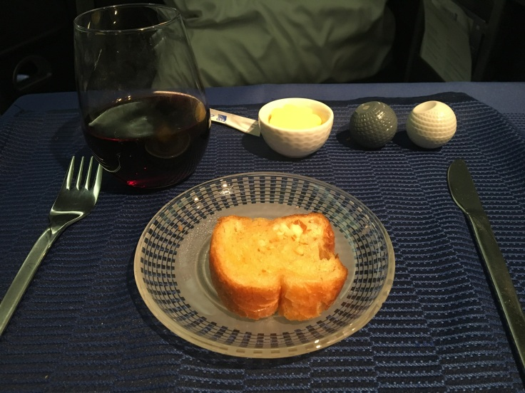 united polaris first soft garlic bread