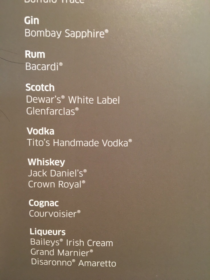 united polaris first soft menu spirits