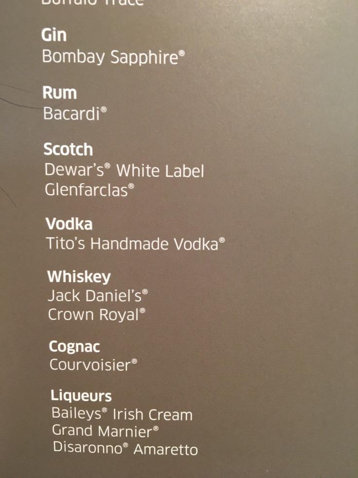 united polaris first soft menu spirits