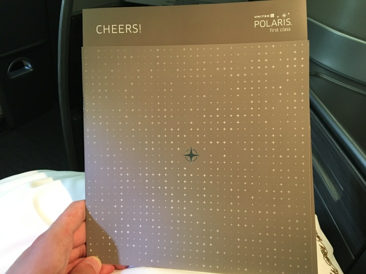 united polaris first soft menu