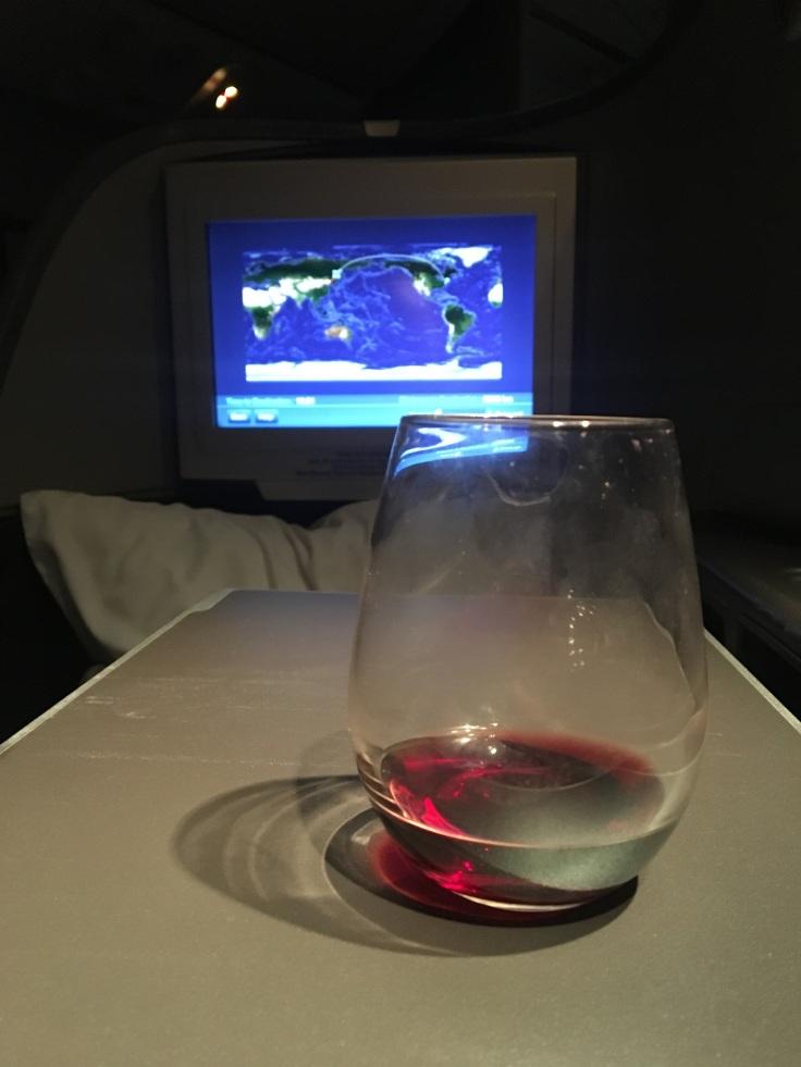 united polaris first soft wine nightcap