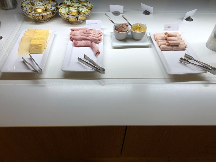 air france business salon cdg dining cold cuts