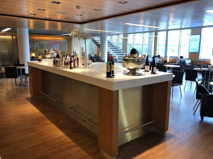 air france business salon cdg dining window side bar table
