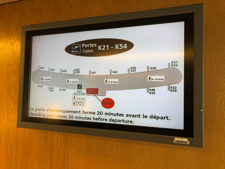 air france business salon cdg information board