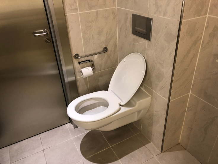 air france business salon cdg shower toilet