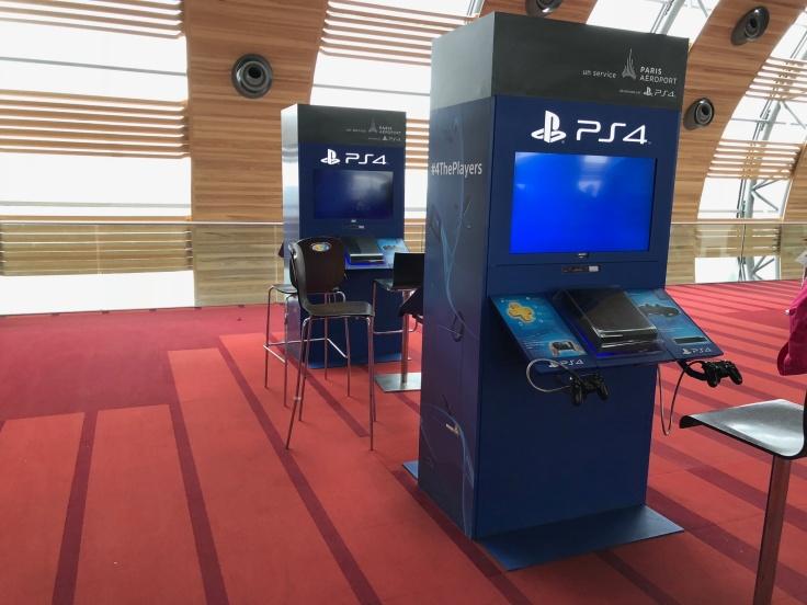 air france business salon cdg terminal play station