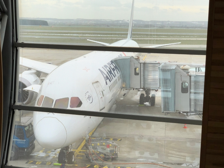 air france business airplane before