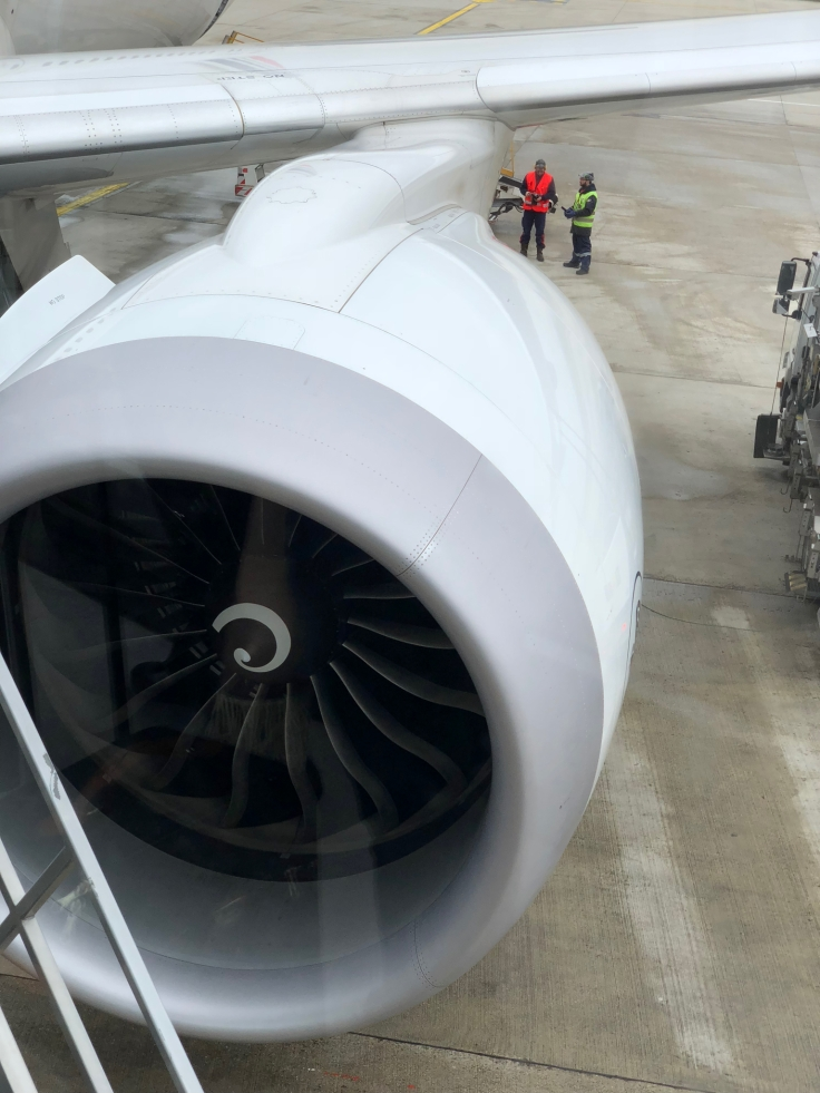 air france business airplane engine