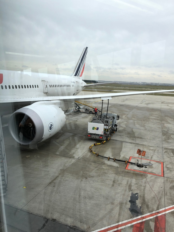 air france business airplane jetway engine