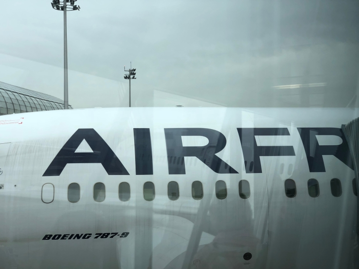 air france business airplane lettering