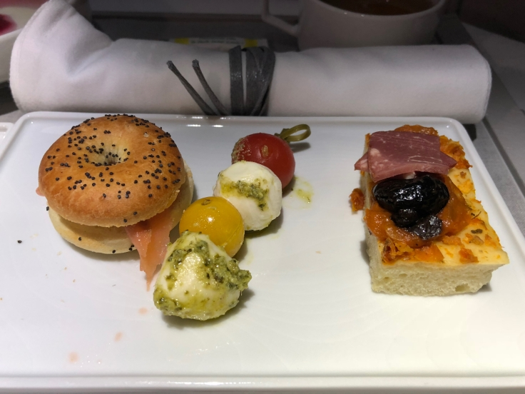 air france business dining arrival bites