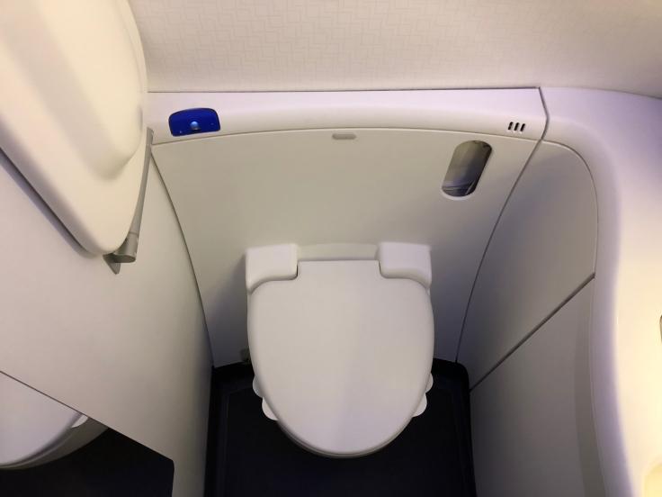 air france business hard bathroom toilet
