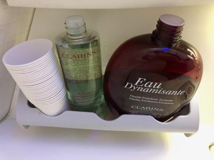 air france business hard bathroom toiletries