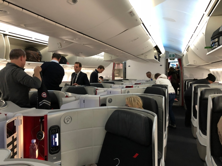 air france business hard cabin boarding reverse