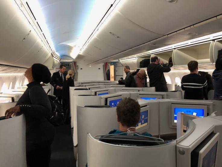 air france business hard cabin boarding