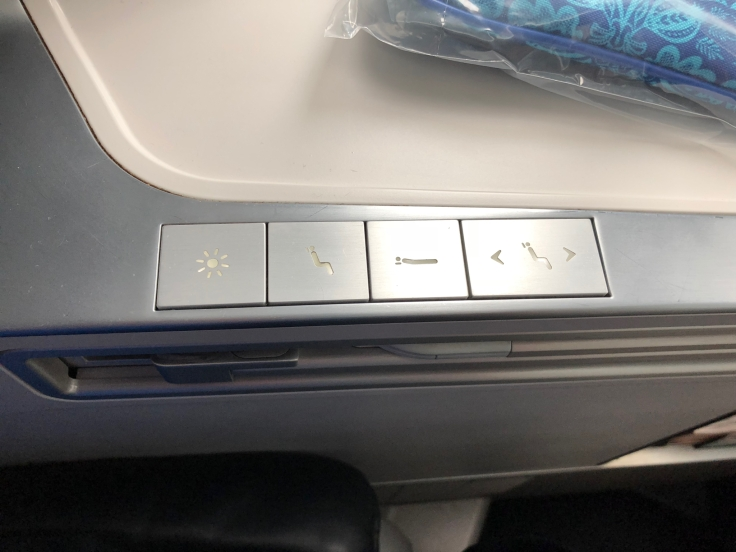 air france business hard seat controls