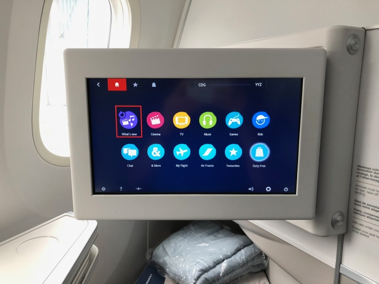 air france business hard seat entertainment system ejected