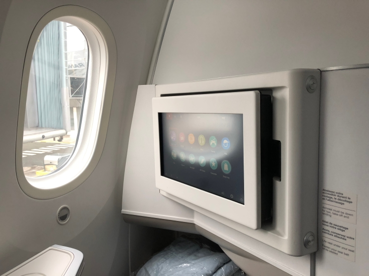 air france business hard seat entertainment system