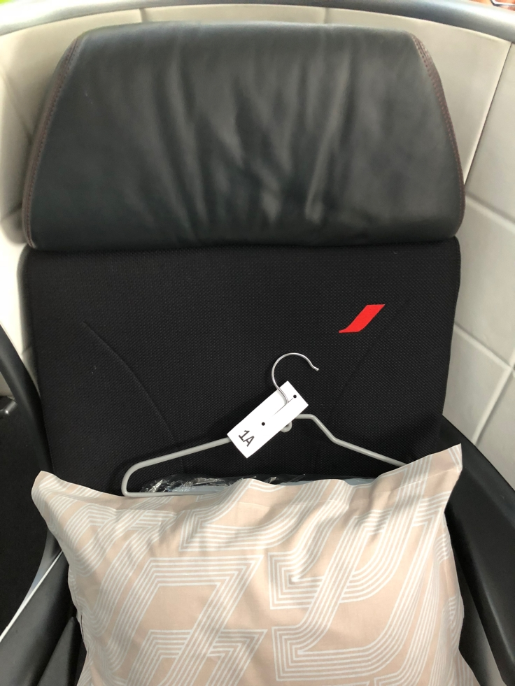 air france business hard seat head rest