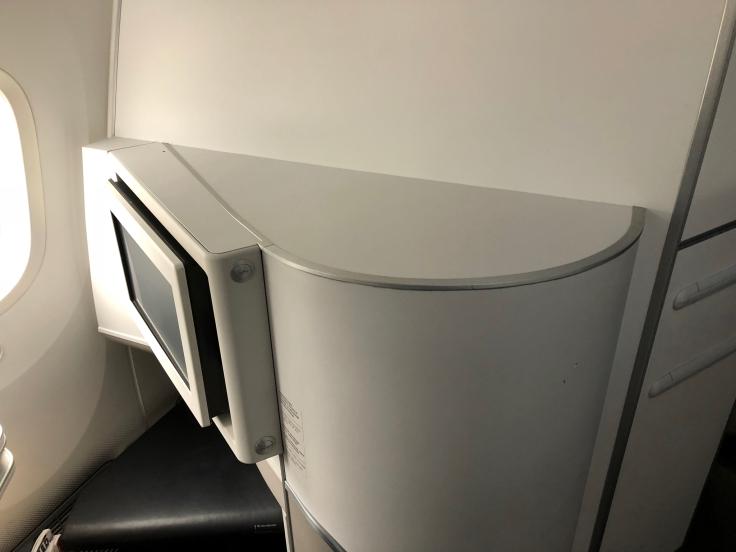 air france business hard seat shelf