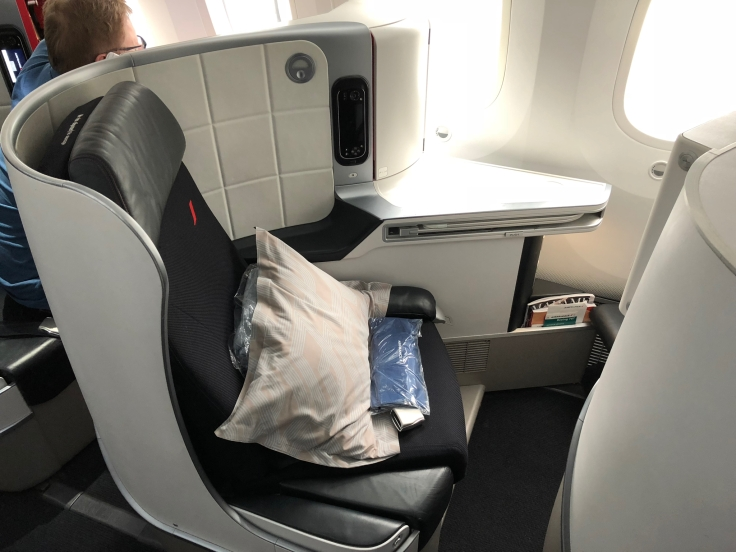 air france business hard seat