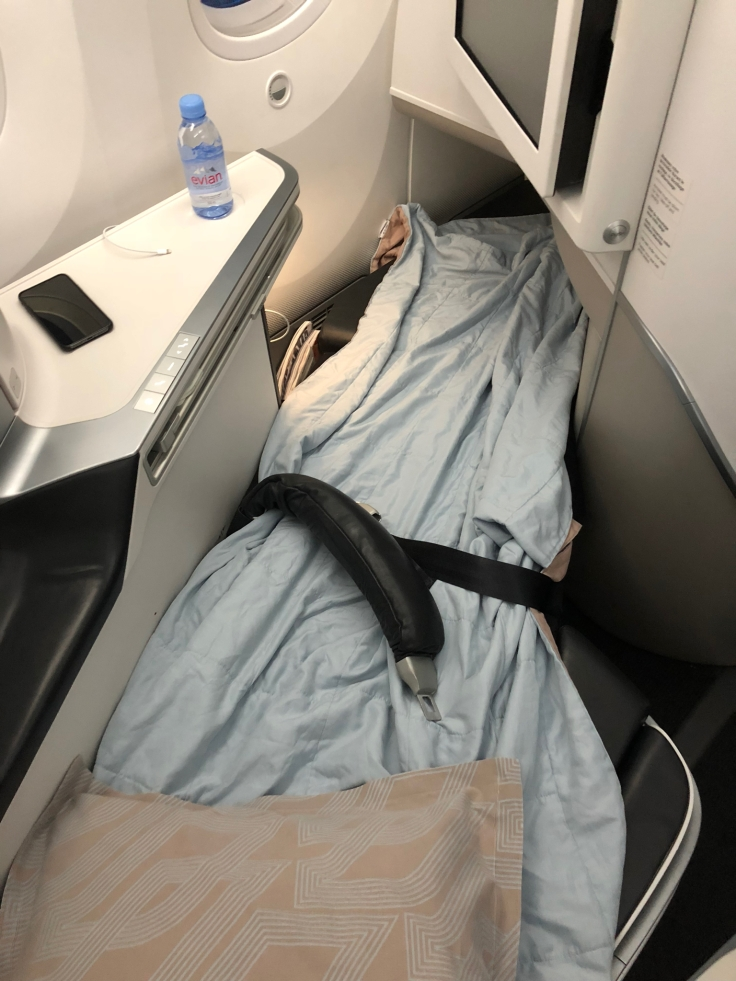 air france business soft bed service long view