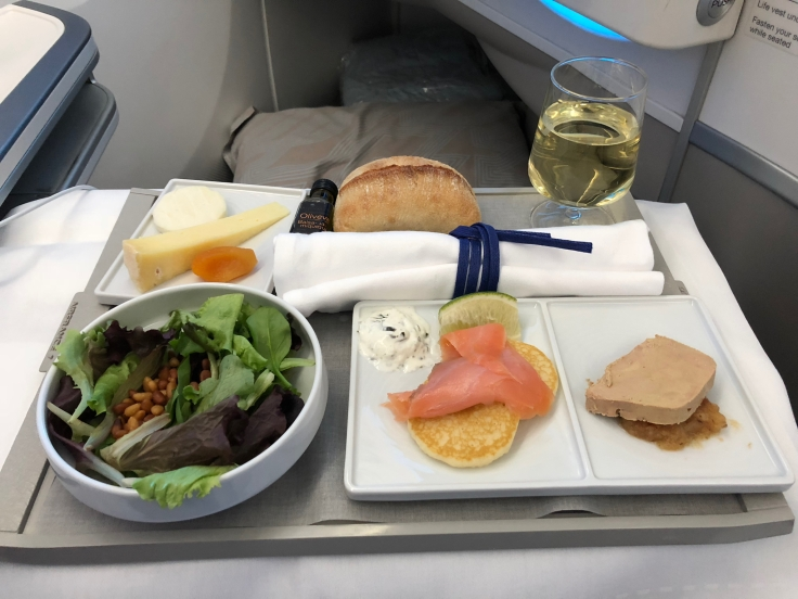 air france business soft dining appetizer