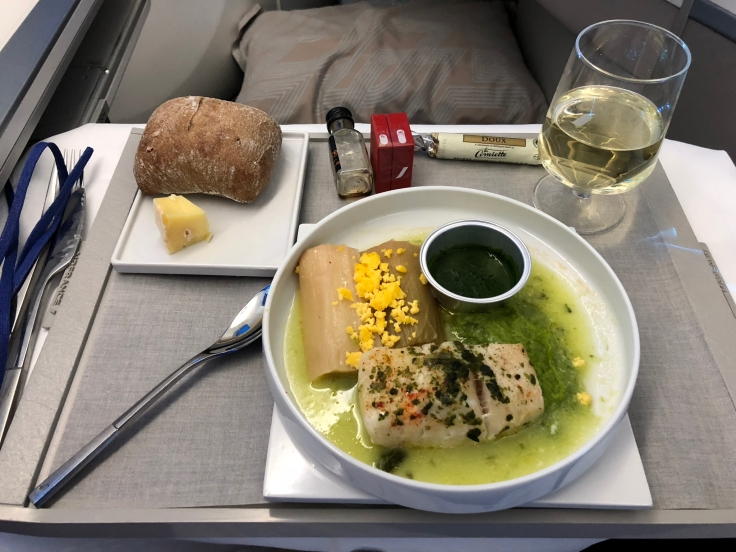 air france business soft dining cod entree