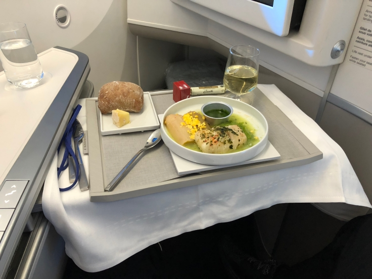 air france business soft dining push away