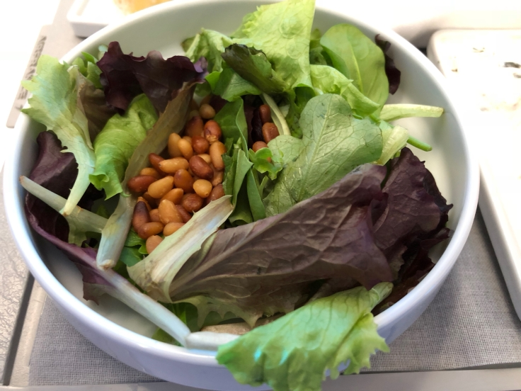 air france business soft dining salad