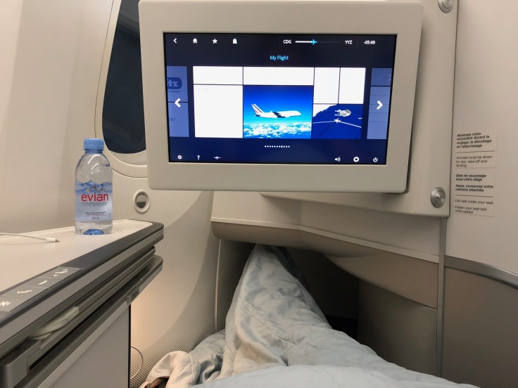 air france business soft in bed