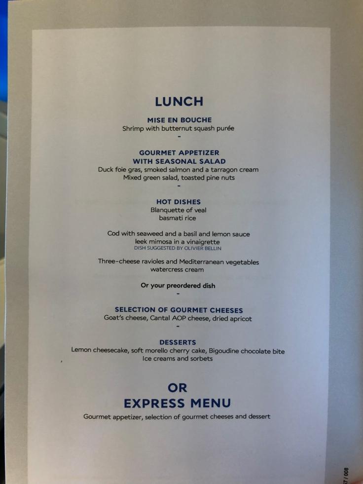 air france business soft menu 3