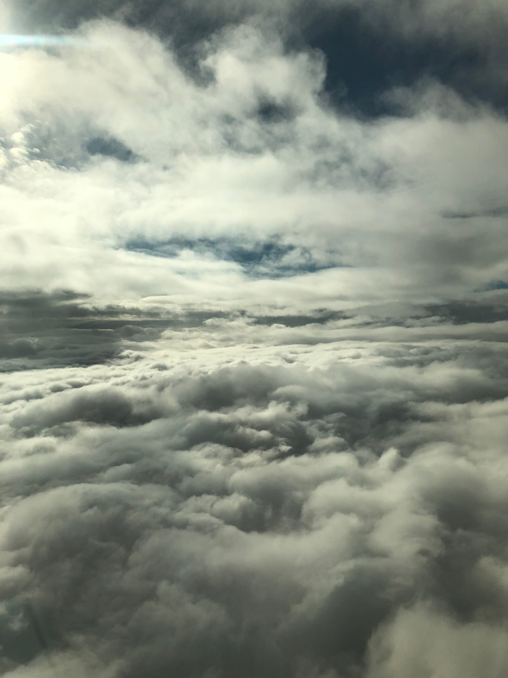 air france business view cloud bank