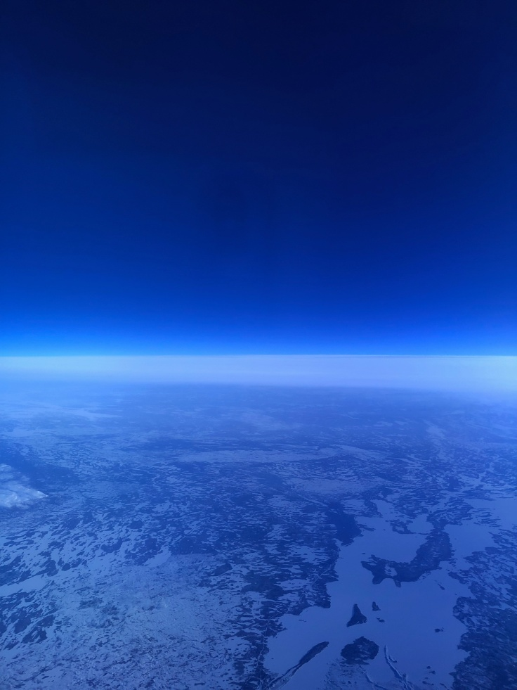air france business view in blue