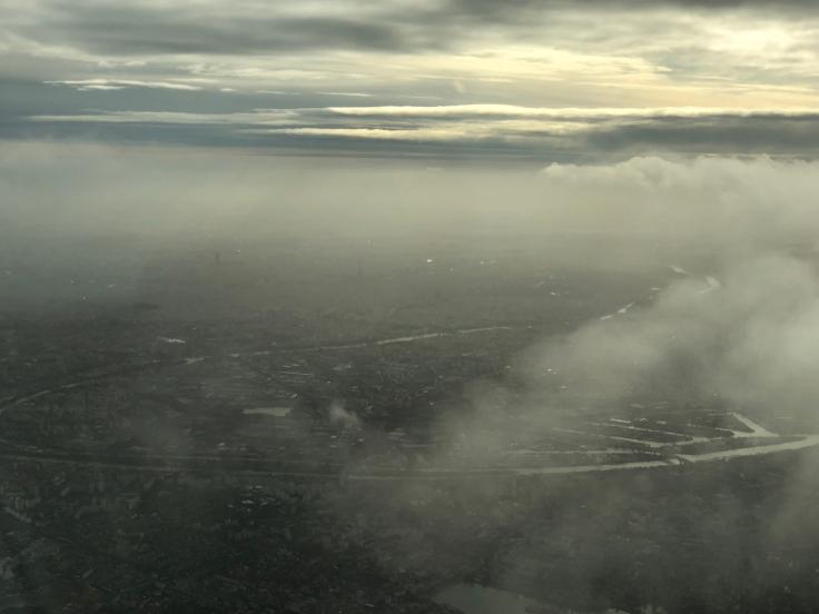 air france business view takeoff paris