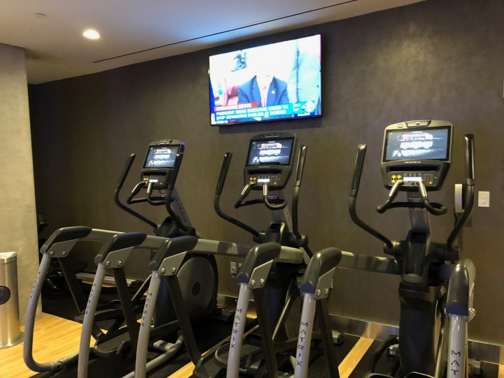 ac hotel new york times square public gym machineries