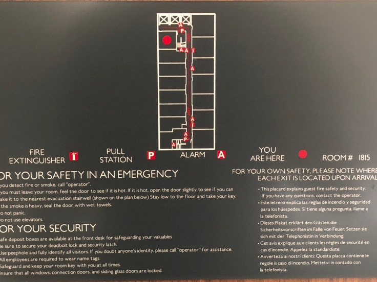 ac hotel new york times square room emergency map