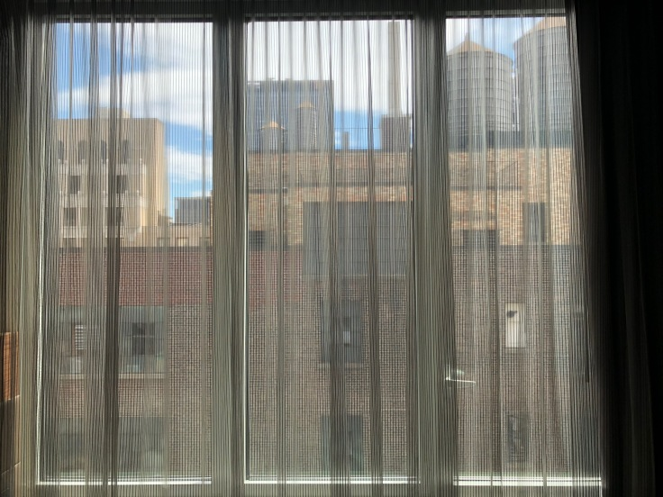 ac hotel new york times square room view curtained