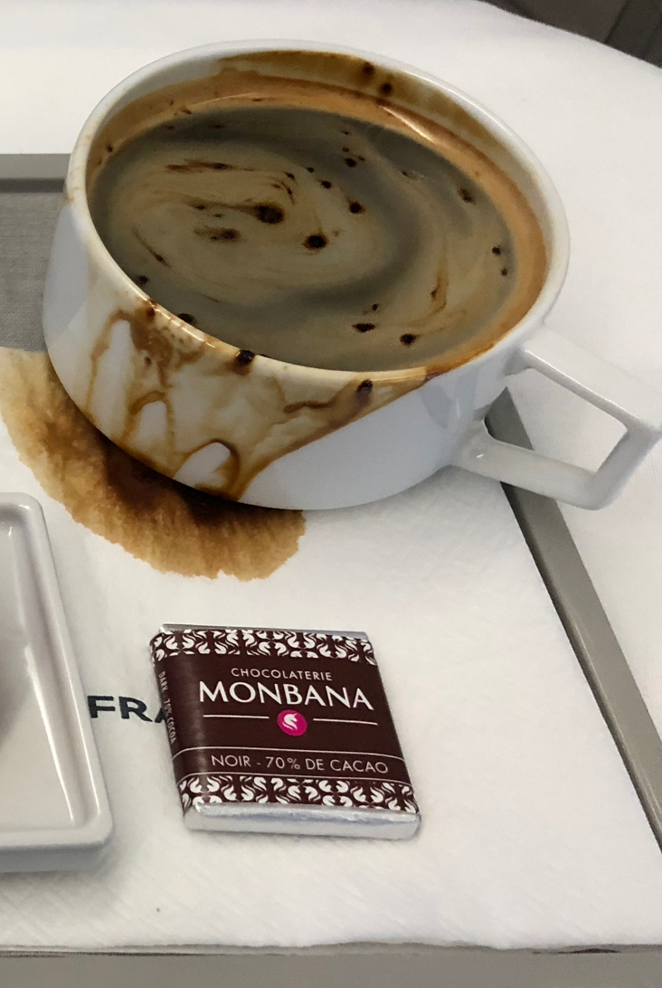 air france business soft dining dessert coffee mess