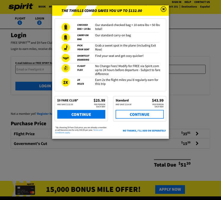 spirit airlines booking 2