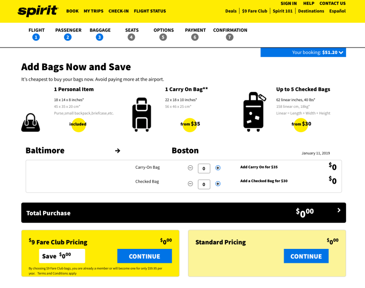 spirit airlines booking 5
