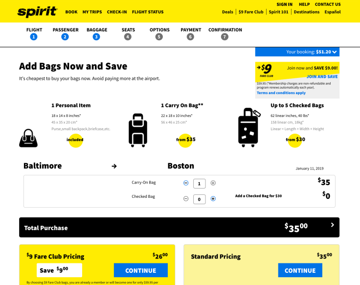 spirit airlines booking 6