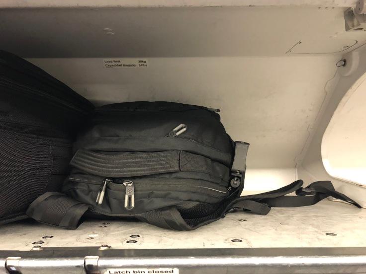 spirit airlines hard overhead storage