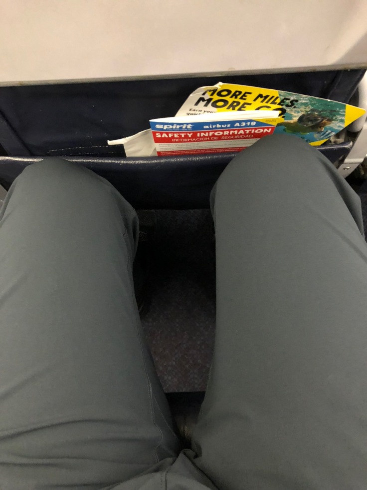 spirit airlines hard standard seat legroom