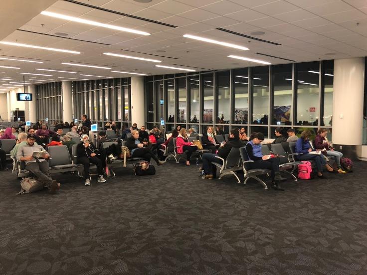 spirit airlines pre boarding area