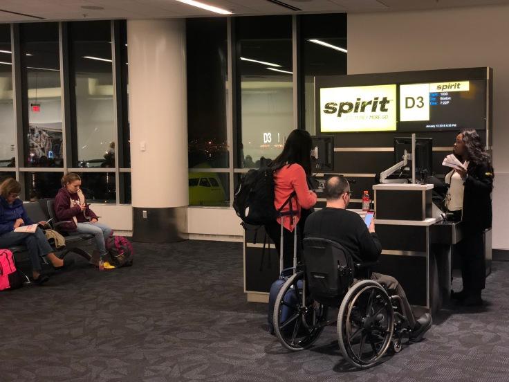 spirit airlines pre boarding