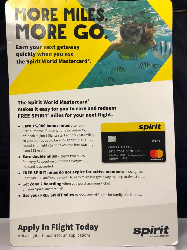 spirit airlines soft credit card promo