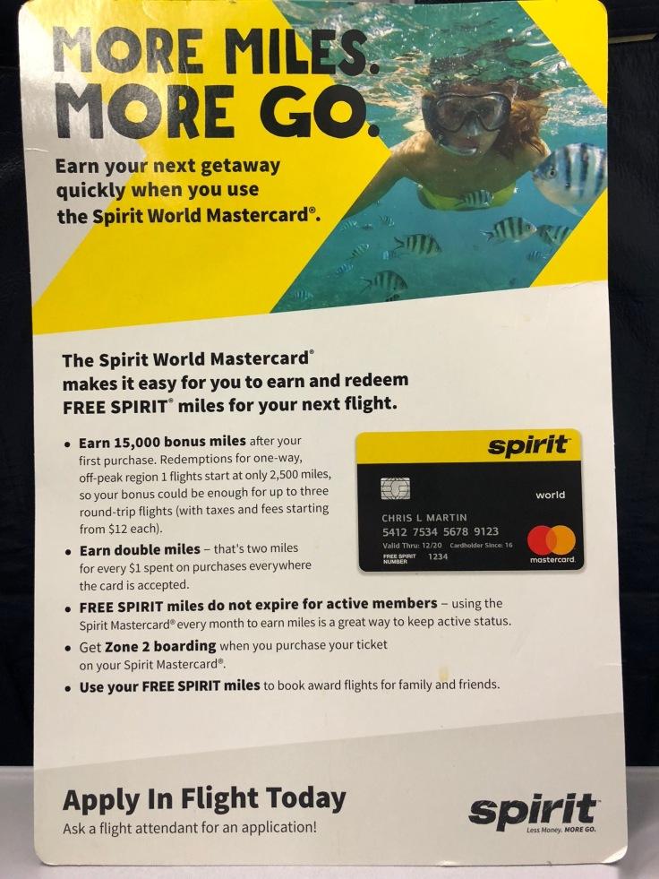 spirit airlines soft credit card promo