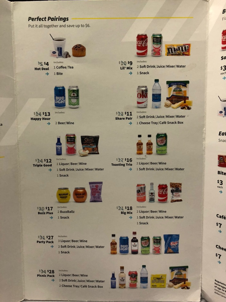 spirit airlines soft menu combos