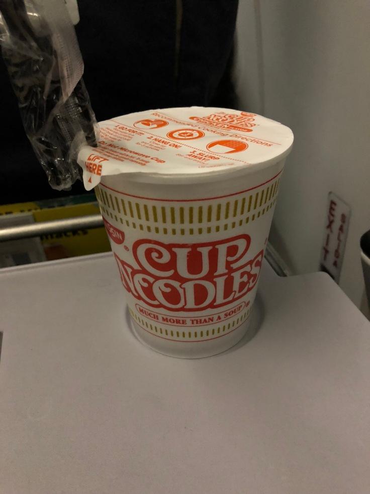 spirit airlines soft noodle cup